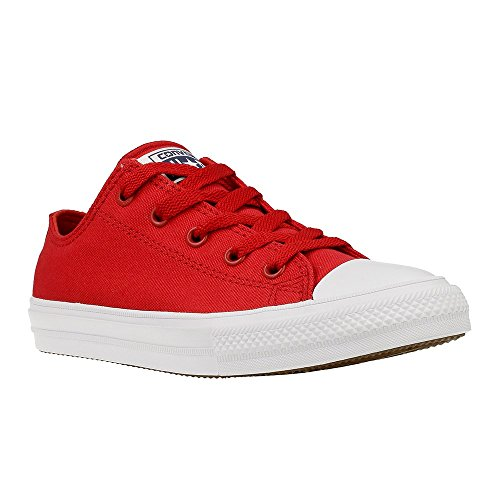Converse Kids Unisex Chuck Taylor All Star II Ox (Little Kid) Salsa Red/White/Navy 10.5 M US Little Kid by Converse