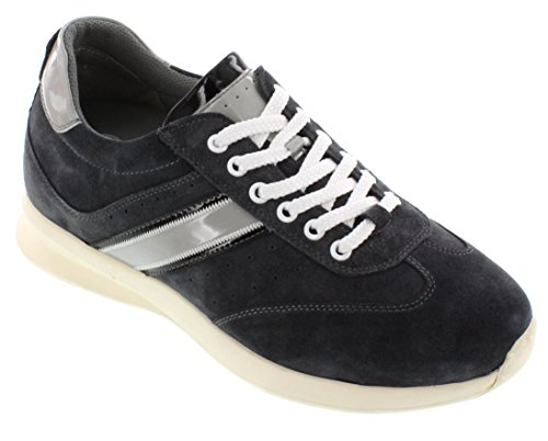 CALTO - A3617-2.8 Inches - Taller - Size 7 D US - Inches Height Increasing Elevator Shoes - Grey Casual Shoes B01AS8SL6I Shoes 2950c4