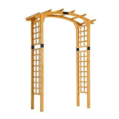 Outsunny Wooden Garden Arbor Arch Trellis