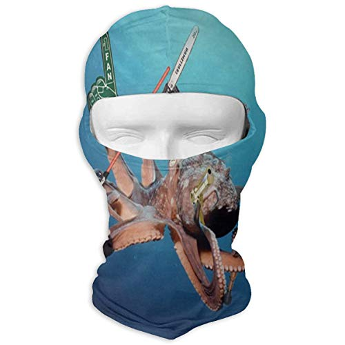 Balaclava Six Ocean Animals You Never Knew Used Tools Cool Full Face Masks UV Protection Snowboarding for Youth ()