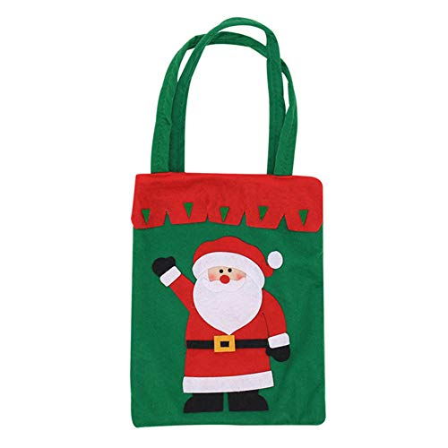 YaptheS Christmas Candy Bags Small Handbag Gift Treat Goodie Tote Bag for Kids Children Home Decorations Shopping (Santa Claus) Christmas Gift by YaptheS (Image #3)