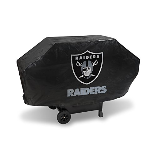 NFL Oakland Raiders Vinyl Padded Deluxe Grill Cover ()