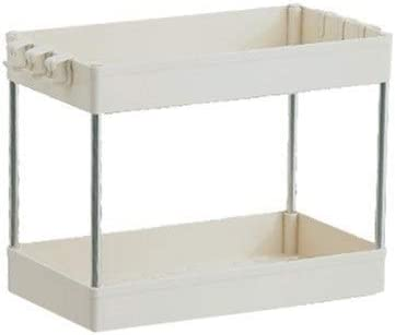 Storage Rack, bathroom cabinets kitchen living room narrow gorge Home Events wheel carrier layer 2/3/4 Storage shelf (Color : White 2 layers)