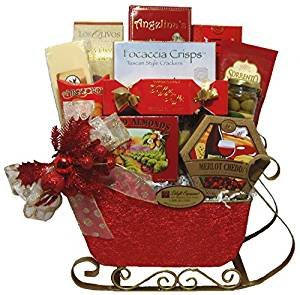 Delight Expressions 'Tis the Season Christmas Gourmet Gift Basket - Holiday Gift