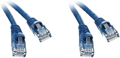 Blue 50 Feet CAT5E Ethernet Patch Cable CNE504662 4 Pack Snagless//Molded Boot