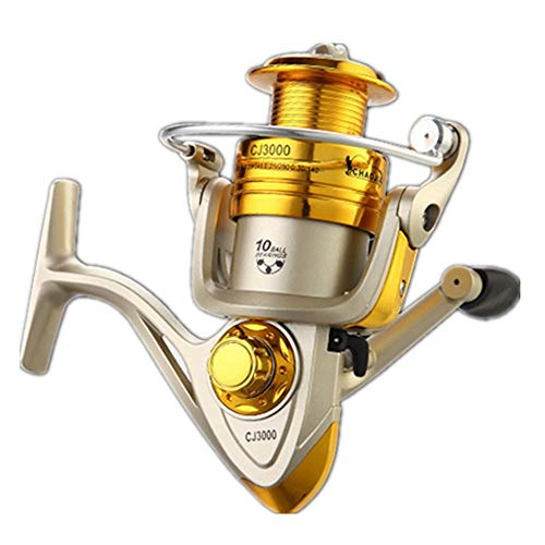 Fishing Reel Spinning Wheel Reel Metal Wire Cup Long Throw Wheel Blue (Color : Gold, Size : 2000)