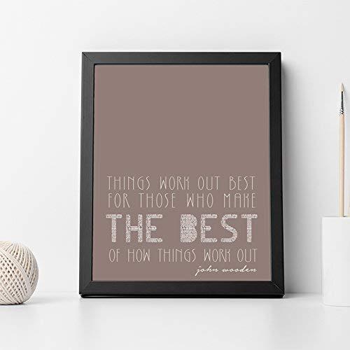 Amazon Com John Wooden Quote Inspirational Quote Wall Art Print