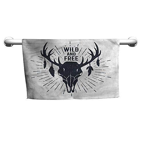 Bensonsve Baby Bath Towel Antler,Tribal Vintage Grunge Deer,Hooded Towel for Toddler boy