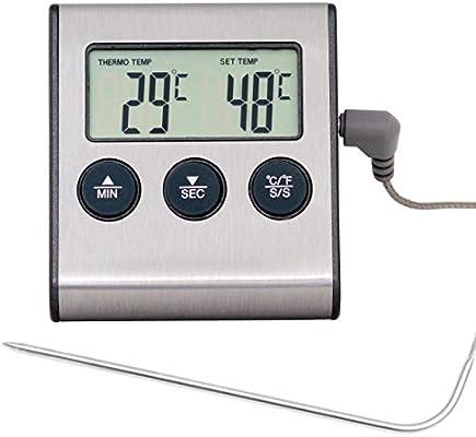 Compra Lantelme Termómetro Digital para Horno con sonda Resistente ...