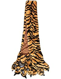 Furry Plush Faux Fur Animal Scarf w Paws and Claws - Choose from 8 Designs!