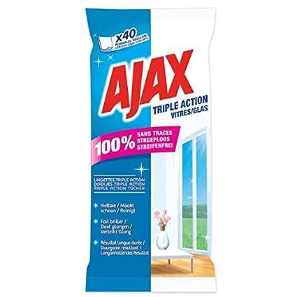 Ajax Triple Acción gamuza para cristal 40 piezas