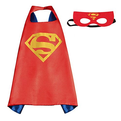 [Athena DC Superheroes Adult Size - Superman Logo Cape and Mask Gift Box Included] (Athena Adult Costumes)