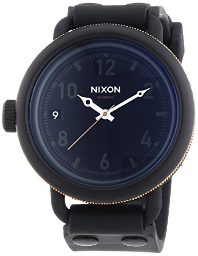 Nixon Men's October Date Watch Solid Stainless Steel Case Swiss Made ISA Quartz A4881530