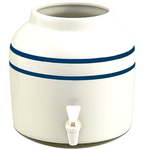 New Wave Enviro Blue Striped Porcelain Water Dispenser, 2.5-Gallon(single) - Blue Green New Wave