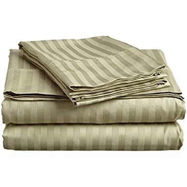 #1 Sheet Set on Amazon - 100% Microfiber Luxury Bedding Collections - HIGHEST QUALITY Fitted and Flat Bed Sheets - Pillowcases - Deep Fitted Pockets - Wrinkle - Fade - Stain Resistant - Great For Bedroom - Vacation Home - Guest Room - RV and Children's Room - Super Soft Silky and Hypoallergenic!, LIFETIME (Queen, SAGE GREEN)