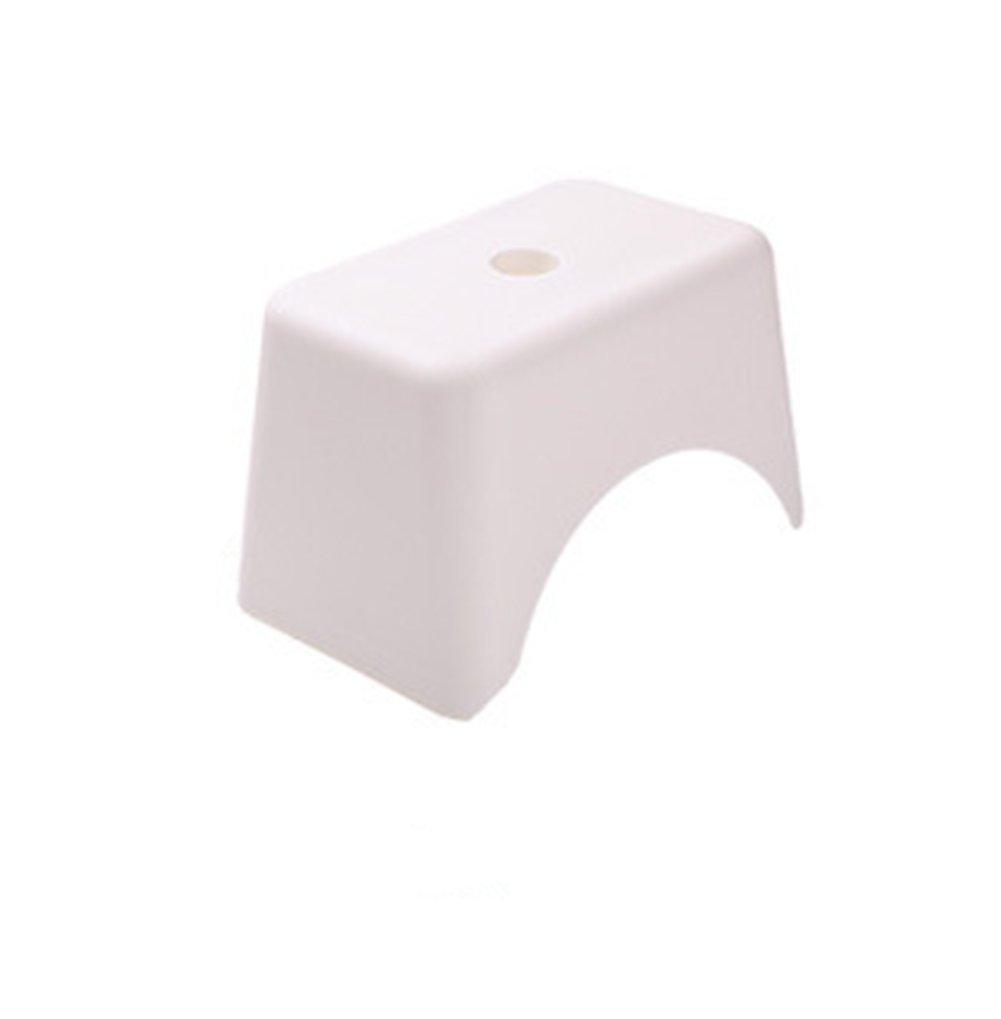 JHKJ WGE Kids Toddler Step Stool Sink Basin Kitchen, Bathroom Potty Training Plastic Stool Footstool,White