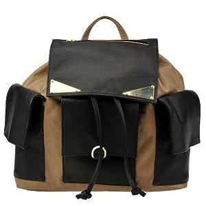 Steve Madden Blaguna Backpack,Black/Taupe,One Size