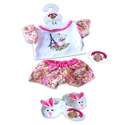 Build your Bears Wardrobe 15-Inch Candy Paris PJs Pyjama Teddy Bear Clothes for Build Bears Teddies]()