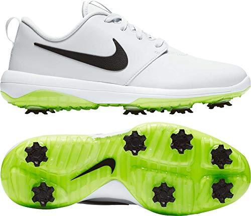 Nike Men's Roshe G Tour Golf Shoes (11 M US, Pure Platinum/Black/White/Volt Glow) - Nike Mens Saddle