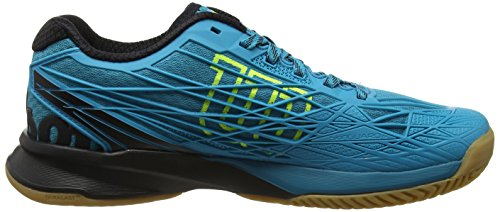 Wilson Kaos Indoor Enamel Blu/Bk/Safety Ye 11.5, Scarpe da Tennis Uomo, Blu (Enamel Blue/Black/Safety Yellow), 46 2/3 EU