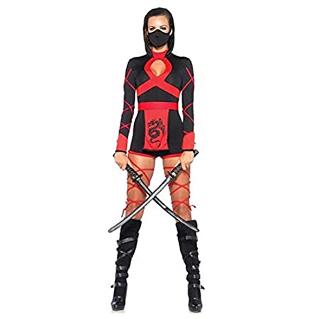 Halloween Ninja Cosplay Mask Black Hooded Costume Assassin ...