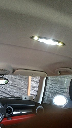 18 ledes L/ámpara para el interior del coche Newsun dise/ño de bandera de Reino Unido color blanco.