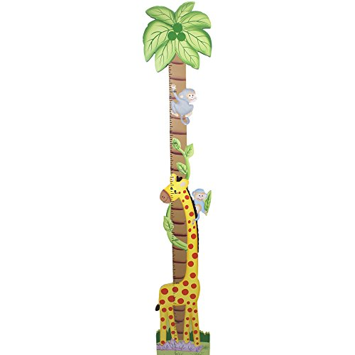 Fantasy Fields - Sunny Safari Animals Thematic Kids Wooden Growth Chart | Imagination Inspiring Hand Painted Details | Non-Toxic, Lead Free Water-based (Hand Painted Wooden Growth Charts)