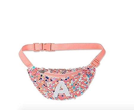 LetterR Justice Sequins Fanny Pack Belt Bag Initial Letter