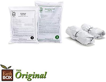 EarthBox 81121 Mulch Cover Kit 2-Pack Original Black//White