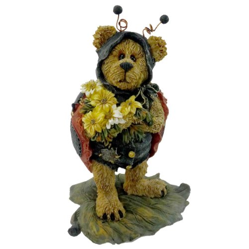 Boyds Bears Resin Tweedle Bedeedle Stop Ladybug Bearstone - Resin 4.25 IN