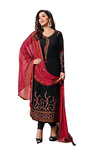 Da Facioun Femmes Indiennes Concepteur Partywear Ethnique Kameez Traditionelles Kameez Noir.