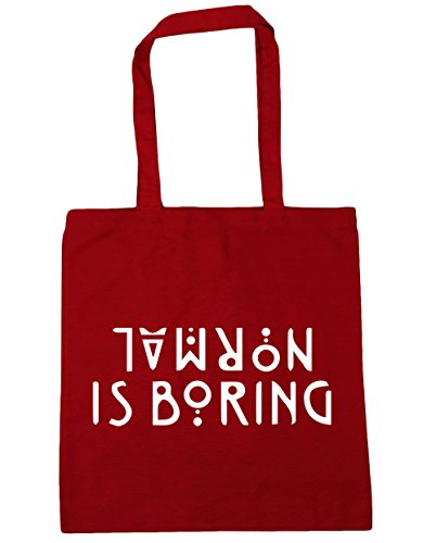 Shopping 42cm Red Beach Bag Classic litres Tote HippoWarehouse x38cm Gym 10 Normal is boring xqfTHI