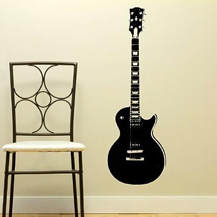 Vinilo decorativo para pared con diseño de guitarra eléctrica