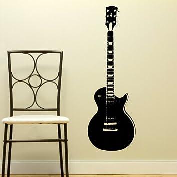 Vinilo decorativo para pared con diseño de guitarra eléctrica: Amazon.es: Bricolaje y herramientas