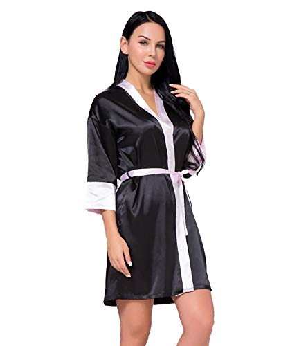 Robe Donna Satin Soft Gown Silk Nightwear C Da Edahb®kimono Dressing q645Enw