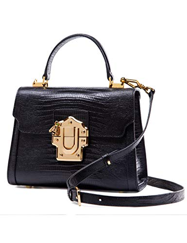 LA'FESTIN Cross body Leather Tote Bags for Women Black Purses with Long Shoulder ()