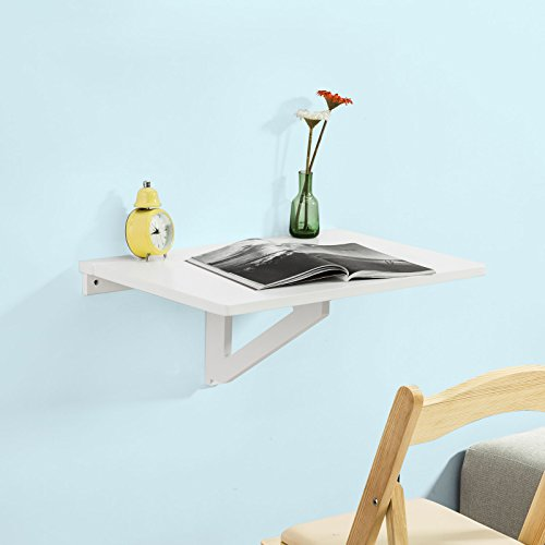 Haotian Wood Wall-mounted Drop-leaf Table, Folding Kitchen & Dining Table Desk, Children Table, FWT03-W by Haotian