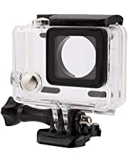 Underwater Action Camera Cage, Transparent Shockproof Diving Waterproof Camera Housing Case Cover Compatible with Gopro Hero 4/3+/3,Waterproof Case for Diving, Swimming,etc