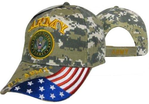 미국 육군 인감 애국적 인 미국 깃발 CAmo 수 놓은 모자 모자 라이..