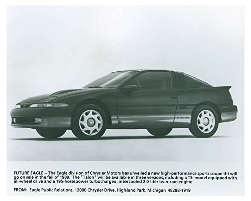 1989 Chrysler Eagle Talon Sports Coupe Automobile Photo Poster