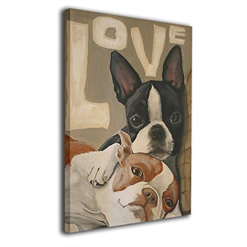 Baker Back Boston Terrier Painted Canvas Prints for Home Decorations Wall Art Decor Paintings Decorative Modern Seascape Abstract ()