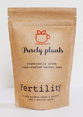 Purely Plants Fertility Herbal Tea for Women & Womens Health Non GMO Organically Grown for Hormone Health & a Healthy Cycle – Vitex, Dong Quai, Red Clover, Spearmint, Raspberry Leaf, Oatstraw, Nettle