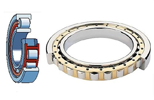 URB NU2211 EMC3 Cylindrical Roller Bearing 55 mm ID x 100 mm OD x 25 mm Width Machined Brass Cage