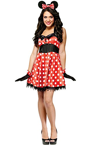 Fun World Women's Med/lrg Retro Miss Mouse Adlt, Multi Color, Large -