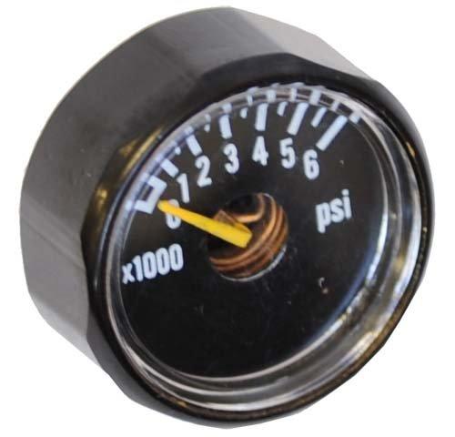 Psi Gauge Paintball (Ninja 6000psi Mini Micro Gauge Regulator Parts BLACK)