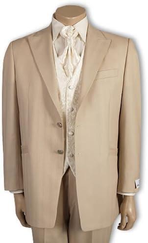 Wilvorst, Hochzeitsanzug, beige, Gr.106: : Bekleidung