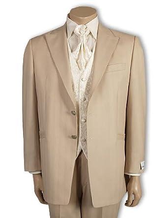Wilvorst Hochzeitsanzug Beige Gr 106 Amazon De Bekleidung