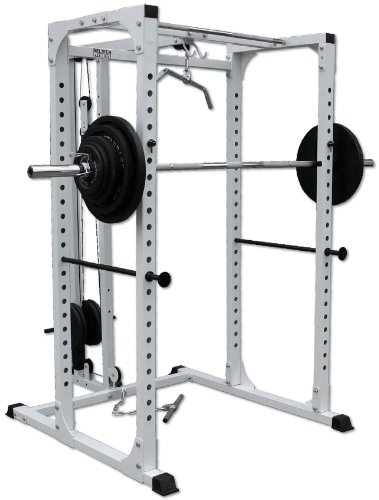 Squat Rack with Lat Attachment by Deltech Fitness
