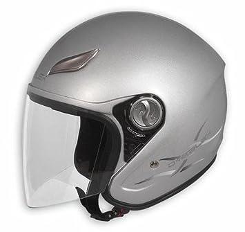 Jet casco de la Moto del visera larga fibra Scooter Touring BMW Guzzi Plata S