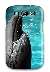 New Tpu Hard Case Premium Galaxy S3 Skin Case Cover(dolphin) Sending Free Screen Protector